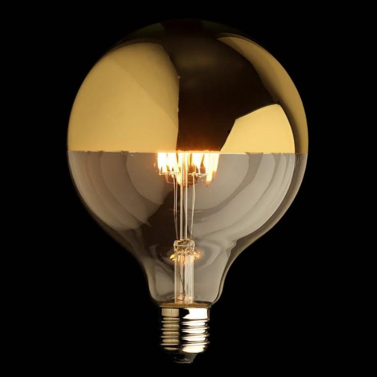 LED Kooldraadlamp Globe Mirror Gold E27 4W