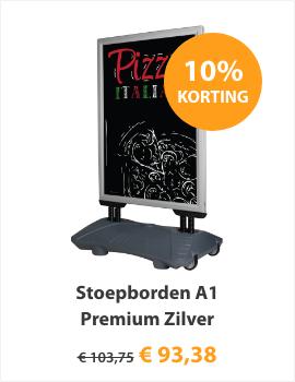 Stoepbord A1 Premium Zilver