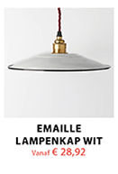 Emaille Lampenkap Wit