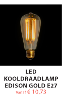 LED Edison Gold E27 lamp