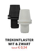 Trekontlasters in kleuren wit en zwart