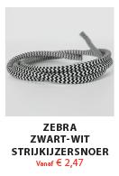 Zebra Zwart Wit Strijkijzersnoer